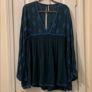 Free People embroidered tunic